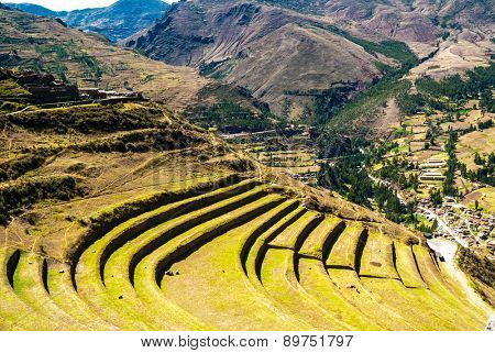 Peru, Pisac - Inca ruins in the sacred valley