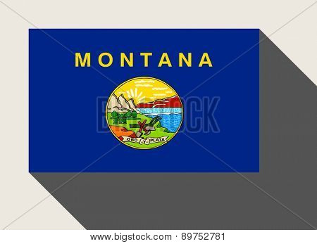 American State of Montana flag in flat web design style.