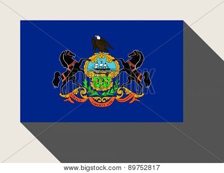American State of Pennsylvania flag in flat web design style.