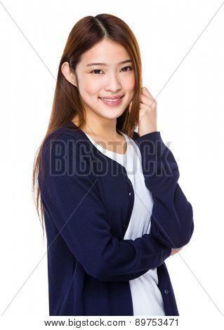 Asian young student portrait