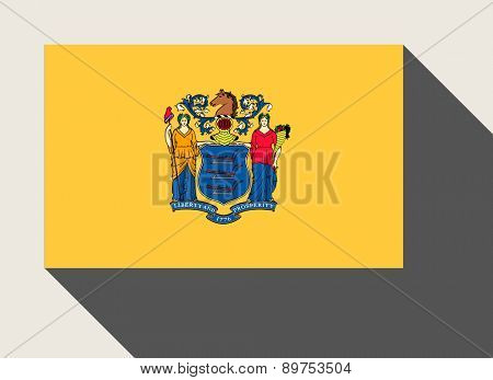 American State of New Jersey flag in flat web design style.