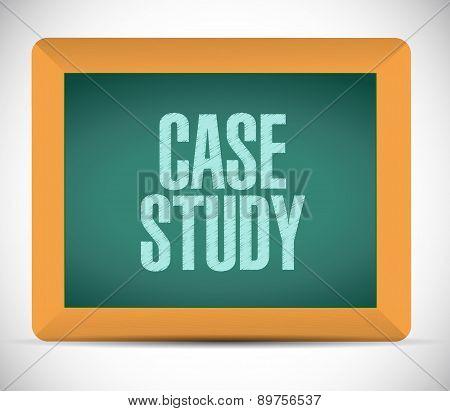 Case Study Board Sign Concept