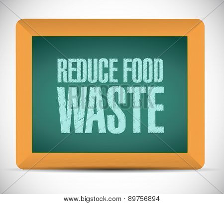 Reduce Food Waste Board Sign Concept