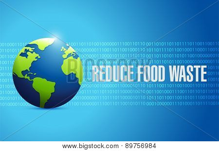 Reduce Food Waste International Globe Sign Concept
