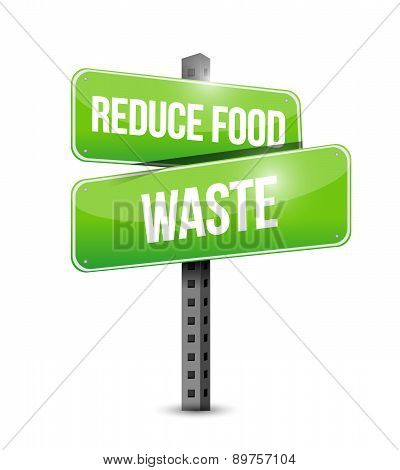 Reduce Food Waste Street Sign Concept
