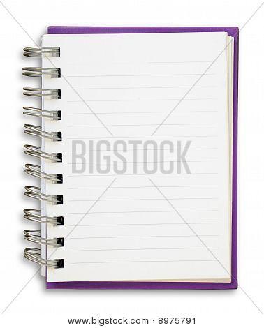 Livro de nota roxo