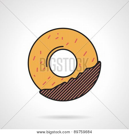 Donut flat vector icon