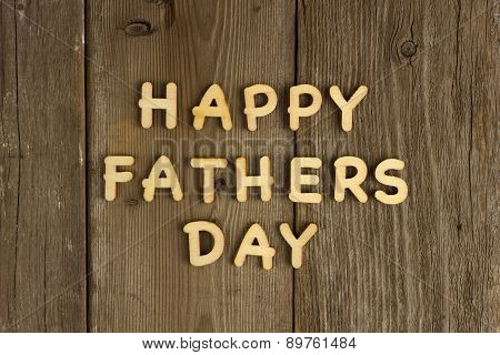 Happy Fathers Day message on wood