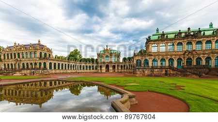 Zwinger Rococo style palace in Dresden