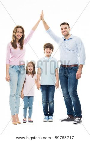 Family forming shape of home
