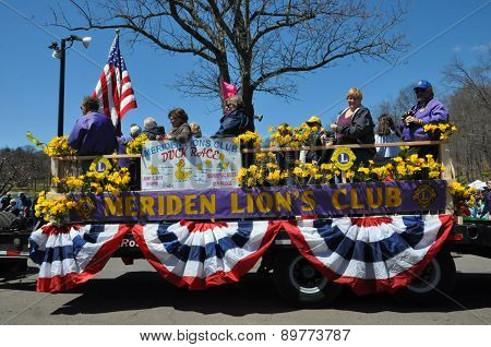 Parade at the 37th Annual Daffodil Festival in Meriden, Connecticut