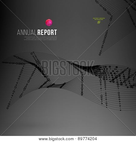 Abstract Science Background with Dots Array and Lines. Connection Structure. Geometric Modern Technology Concept. Digital Data Visualization. Social Network Graphic Concept
