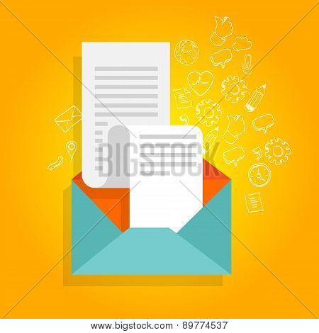 newsletter promotion envelope bill icon