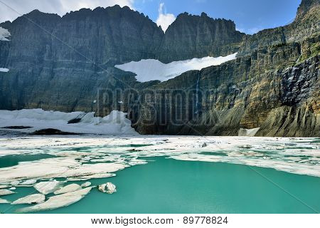 Grinnell Glacier In Many Glaciers, Glacier National Park, Montana