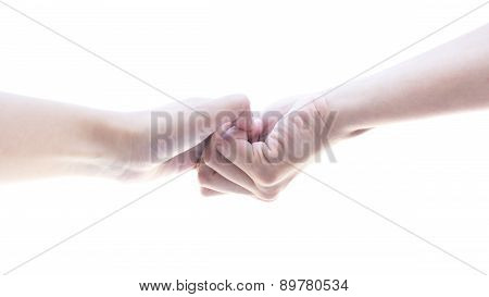 Hand Hold All Finger Strongly Isolated