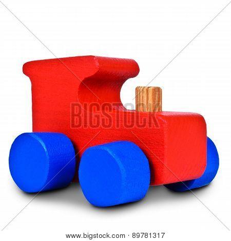 Baby Steam Locomotive On White Background