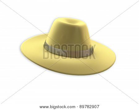 Yellow Felt Hat