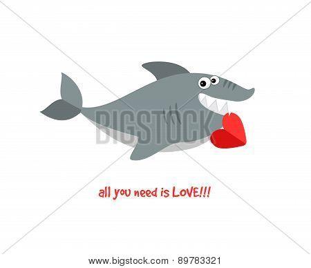Friendly smiling shark