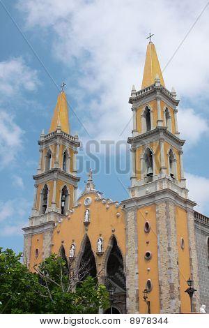 Mazatlan Mexico Downtown Church Landmark
