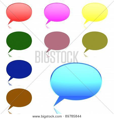 Chat Bubble On White Background (high Resolution 3D Image)