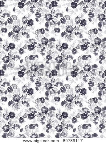 Seamless Daisies Pattern.