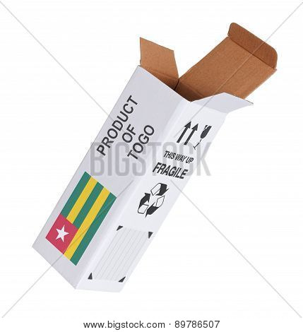 Concept Of Export - Product Of Togo