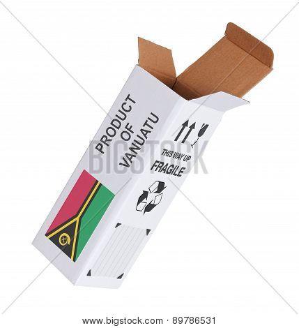 Concept Of Export - Product Of Vanuatu
