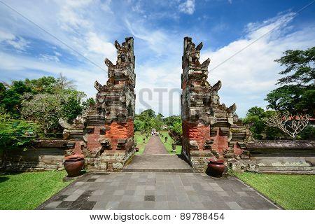 Taman Ayun Temple Gate, Bali Indonesia