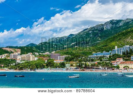 Landscape Panorama View In Montenegro