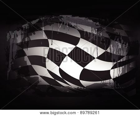 race flag background vector illustration grunge design