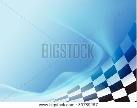 race flag waveing background vector illustration