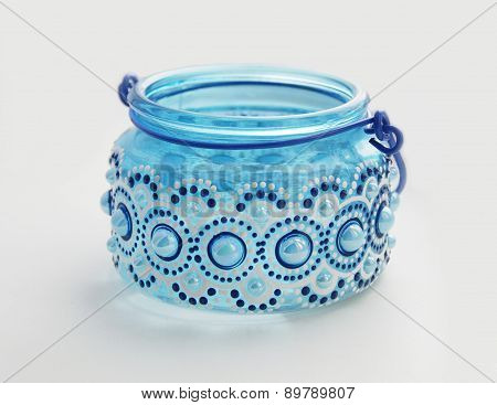 Blue glass bank