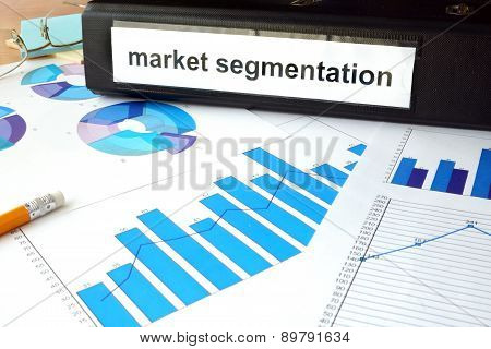 Folder with the label market segmentation