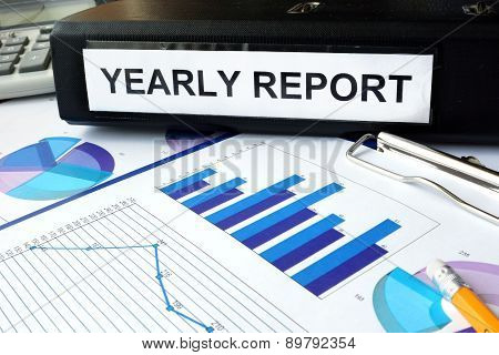 Folder with the label yearly report