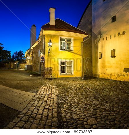 Small Traditional House In The Old Town Of Tallinn, Estonia