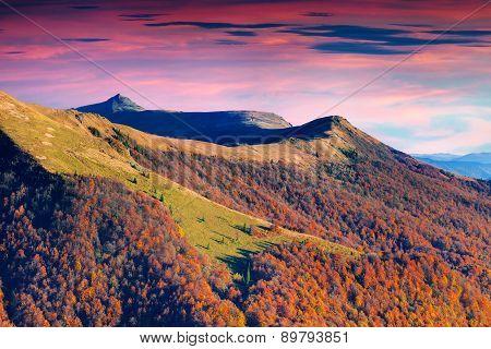 The Highest Mountain Of Dividing Range In The Ukrainian Carpathians, A Mountain Peak Pikuy