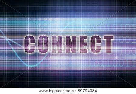 Connect on a Tech Business Chart Art