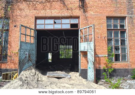 KIEV, UKRAINE - MAY 2, 2015: Abandoned industrial complex..May 2, 2015 Kiev, Ukraine
