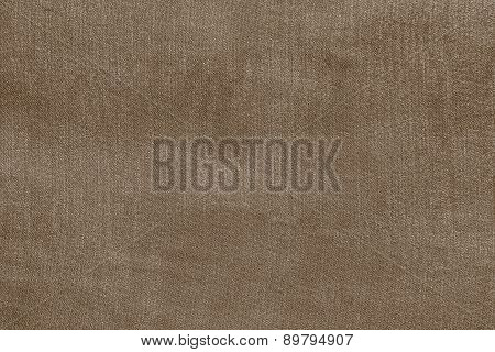 Grained Texture Fabric Of Pale Brown Color