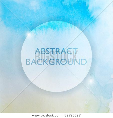 Abstract Watercolor Blue And Yellow Background