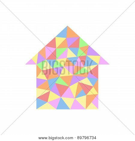 House With Colored Triangles.