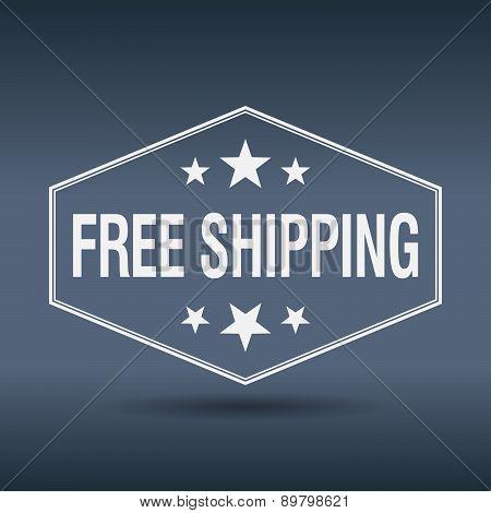 Free Shipping Hexagonal White Vintage Retro Style Label