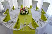 picture of banquet  - Banquet table on a wedding party at hotel Djerdap Kladovo - JPG