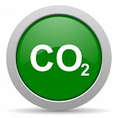 pic of carbon-dioxide  - carbon dioxide green glossy web icon