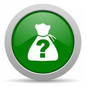 stock photo of riddles  - riddle green glossy web icon - JPG