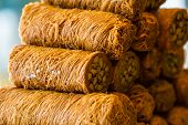 image of baklava  - Turkish sweet baklava also well known in middle east.
