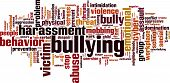 picture of bullying  - Bullying word cloud concept - JPG