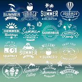 picture of holiday symbols  - Summer typography designs - JPG