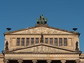 stock photo of neo-classic  - Theater in Berlin detail of the facade - JPG