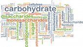 stock photo of carbohydrate  - Background text pattern concept wordcloud illustration of carbohydrate - JPG
